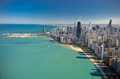 Chicago, skyline e lago