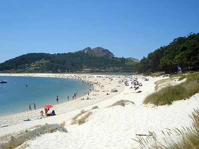 Isole Cies, spiaggia
