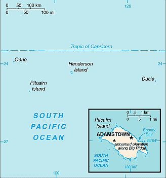 Mappa - Isole Pitcairn