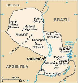 Mappa - Paraguay
